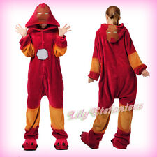 New Unisex Adult Costume Cosplay Anime Iron Man Hero Pajamas Onesie Sleepwear