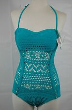 Robin Piccone Women's Turquoise One Piece Size 6,10