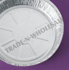 """INDIVIDUAL DEEP FOIL PIE, 9 X 1.8"""" FLAN DISHES CASES ROUND CONTAINER DISPOSABLE"""