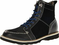 Stacy Adams Mainline Men's Black Leather and Synthetic Ankle Boots #53376-001