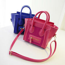 Hot Ladies Leather Celebrity Tote Bag Cossbody Smile Shoulder Satchel Handbag