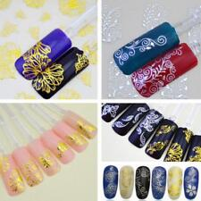 New 3D Silver Gold Nail Art Stickers Decals Stamping Nail Tips Decoration Tools