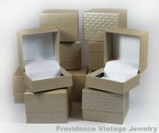 500 PCS WHOLESALE LOT OF RING GIFT BOXES JEWELRY SUPPLIES BEIGE PATTERNED