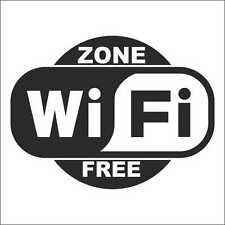 "Vinilo adhesivo, sticker, decal vinyl, aufkleber  ""ZONE WIFI FREE"" 05"
