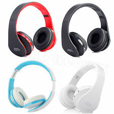 Foldable Wireless Bluetooth Stereo Headset Headphones +Mic For iPhone PC Laptop