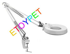 10X 20X Tabletop Magnifying Lamp Lens Magnifier Clip Desktop Optical-white Glass