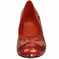 Ellie Shoes Sexy Dorothy Wizard of Oz Sequined Womens Bow Detail 203-JUDY RED