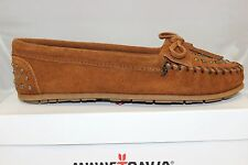 Women's Minnetonka Studded Moccasin Brown 362 Brand New In Box