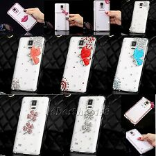 Hard DIY clear crystal bling cute diamond case skin cover for samsung phones