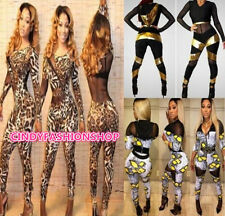Sexy Women Gauze Patchwork Bandage Bodycon  Romper&Jumpsuit Club Party Casual