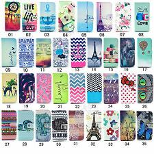 Flip Printed PU Leather Holder Case Cover For Samsung Galaxy Core LTE 4G G386F