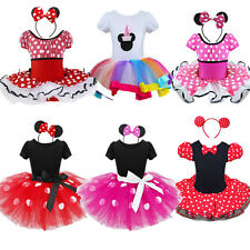 Minnie Mouse Toddler Girl Kid Party Costume Ballet Birthday Fancy Dress Up+Ears