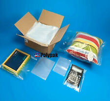 2-Mil Clear Poly Bags Lay-Flat Open-Top End Plastic Baggies 2ml Large Small 002