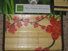 "BAMBOO Cherry Blossom TABLE RUNNER 13"" x 72"" 90"" Long SPRING ASIAN Decor NEW MAT"