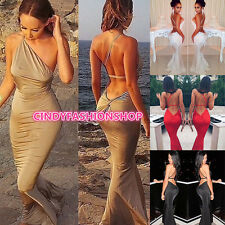 New Personalized Sexy Women One-Shoulder Club Maxi Bandage Bodycon Party Dress