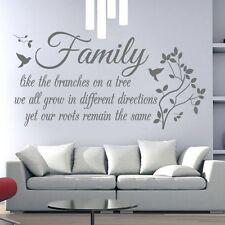 Family roots tree branches wall sticker, wall art mural room  great gift idea