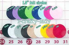 """100 felt circles 1.5"""" get one color or a mix, 17 colors available"""