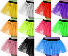 Plus Adult Size Women Tutu Tulle Skirt Petticoat Dance Rave Neon Christmas