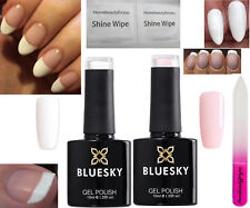 BLUESKY FRENCH MANICURE KIT STUDIO WHITE AND FRENCH PINK NAIL GEL POLISH UV LED