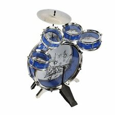 NEW 11 pc Kids Boy Girl Drum Set Musical Instrument Toy Play Set BLUE Fun Music