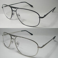 BIFOCAL VISION AVIATOR SPRING TEMPLE MAN WOMAN CLEAR READING GLASSES - 932BF