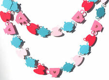 Tea Party Pinks & Teal Themed Sewn Garland - Alice In Wonderland Birthday Party