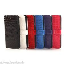 iPhone 6 iPhone 6S Crocodile Texture Folio Stand Wallet Cover Case