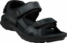 CLARKS SWING AWAY MEN'S SANDALS BLACK LEATHER STYLE #65906