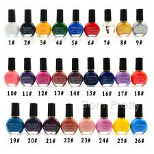 26Colors 10ml High Quality Nail Art Template Stamp Stamping Polish Varnish