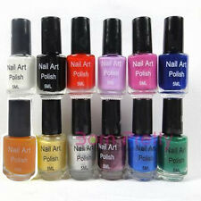 12colors 5ml Nail Art Stamp Stamping Polish Nail Varnish Stamp Nail Tool
