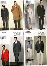 VOGUE PATTERN MEN's DOUBLE-BREASTED PEA COAT SPORT TUXEDO SUIT SIZE 34-46 U-PICK