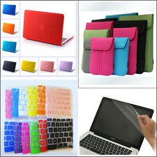 "4in1 Rubberized Matte Hard Case Cover Soft Bag for MacBook Air Pro 11"" 13"" 15"""