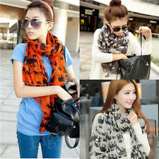 Fashion Lady winter Womens Elephant voile Soft Long Shawl Scarf Wrap Stole New