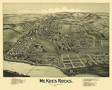 Antique Map of McKee's Rocks Pennsylvania 1901 Allegheny County
