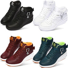 New Paperplanes Womens Hi-Top Wedge Lace up Fashion Sneakers Shoes