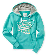 NWT Aeropostale Womens Times Square Pullover Hoodies Sweatshirts Size S M Turq