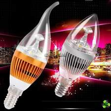10x E14 Flame 3W High Power LED Chandelier Candle Light Bulb Lamp 85-265V CaF8