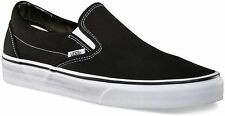 VANS Men Women Skate Shoes Black White Classic Slip On New Without Box Original
