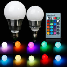 E27/E14/GU10 RGB LED Color Changing Lamp Bulb 85-265V With Remote Control