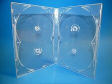 Premium 2-4-6-Disc DVD CD Case Clear/Black Overlap 7mm/14mm Holds 2-4-6 Discs