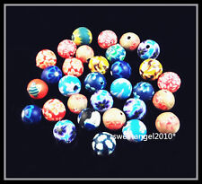 Lots 50/100Pcs colorful polymer clay Charm FIMO beads Jewelry Making design 6mm
