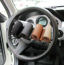MULTI-COLOR HIGH GRADE Artificial Leather Steering Wheel Cover With Needle