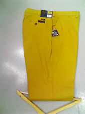"OAKMAN 161500-038 QUALITY SULPHUR DYE COTTON RICH MUSTARD TROUSERS 48""R"