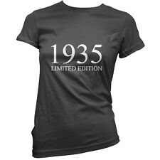 1935 Limited Edition - Womens 80th Birthday Present / Gift T-Shirt - 11 Colours
