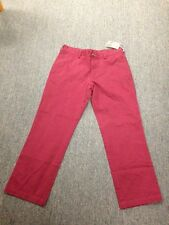 New Haggar H26 Men's Straight Fit Original Chino Pants - Red (Choice of Sizes)