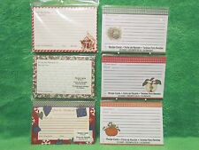 Studio18 Christmas Holiday and MLT Autumn Days Designer 4 x 6 Recipe Cards - NIP