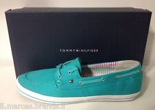Tommy Hilfiger Womens Boat Shoes Moccasin Victoria 11D Turquoise - New In Box