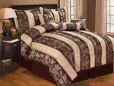 LIZET JACQUARD 7 PIECE COMFORTER SET, CHOCOLATE