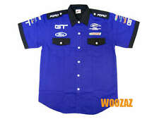FORD MUSTANG NASCAR GT Racing Pit Crew Shirt Blue