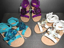 NEW Toddler Girl's Sandals Shoes Turquoise Purple White Girls Sizes:7, 8, 9, 11
